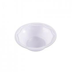 Prato Plástico Descartável Fundo Flex 15CM  Branco Pacote 10 un.