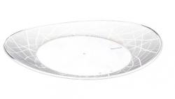 Prato Plástico Descartável Oval 17CM  Cristal Pacote 10 un.