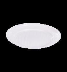 Prato Plástico Descartável Flex 15CM  Branco Pacote 10 un.