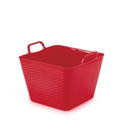 Cesto Multiuso Quadrado Flexível Vermelho 18 Litros