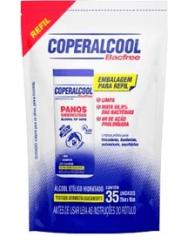 Panos Umedecidos em Álcool Coperalcool Refil Bacfree 70% INPM Clássico com 35 un.