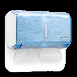 Dispenser Compacto Múltiplo (Cai Cai / Toalha Interfolha) - Azul