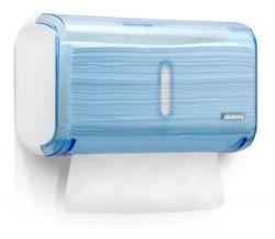 Dispenser Compacto Papel Toalha Interfolhas 2 ou 3 dobras Urban - Azul