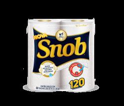 Toalha de Papel Folha Dupla Snob 19x22cm pacote com 2 rolos x 60 toalhas