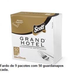 Guardanapo Scott Grand Hotel Coquetel 23,8x21,8 cm Fardo de 9 pacotes x 50unid.