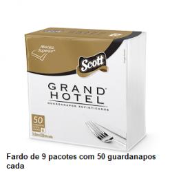 Guardanapo Scott Grand Hotel Família 31,8X32,8 cm Fardo de 9 pacotes x 50unid.