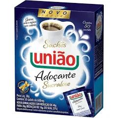 Adoçante União Sucralose em Pó Sachê Caixa c/50.