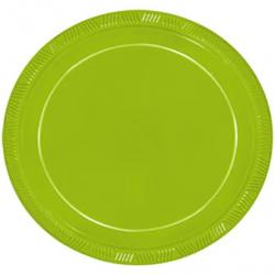 Prato Happy Line Verde Neon 18cm c/ 10 unid.