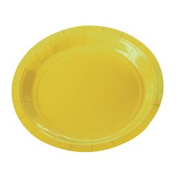 Prato Happy Line Amarelo Neon 18cm c/ 10 unid.