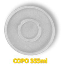 Tampa Plástica p/ Copo 355ml Darnel c/100