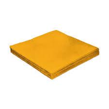 Guardanapo Folha Dupla Amarelo 25x25 cm c/ 20 unid.