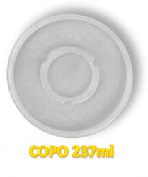 Tampa Plástica p/ Copo 237ml Darnel c/100