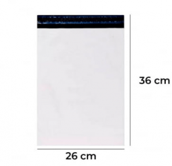 Envelope Plástico de Segurança com Lacre Inviolável 26x36 c/250 unid.