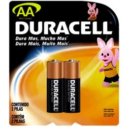 Pilha Duracell Alcalina AA Pequena c/2 unid.