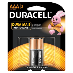 Pilha Duracell Alcalina AAA Palito c/2 unid.