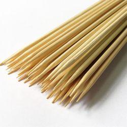 Espeto Churrasco em Bambu Roliço Grande 300 x Ø3,5mm c/50 unid.