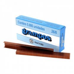 Grampo Cobreado 26/6 Caixa c/ 5.000 unid.