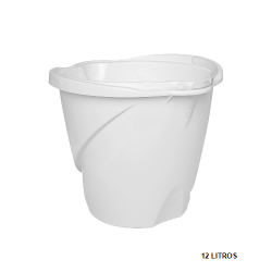 Balde Max Médio c/ Alça Plástica Branco 12L