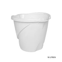 Balde Max Grande c/ Alça Plástica Branco 16L