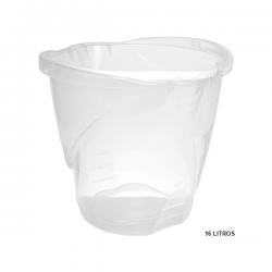 Balde Max Grande c/ Alça Plástica Transparente 16L