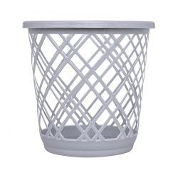 Cesto de Lixo Plástico Telado Branco 10L