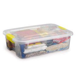 Caixa Organizadora Retangular Rasa c/ Travas Nitronbox 27L