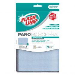 Pano Microfibra para Vidros 30x40 FlashLimp