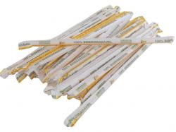 Canudo Bicão Biodegradável Vitamina Sachê Branco c/200 unid.