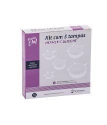 Kit de Tampas Hermatic Silicone c/5 unid.