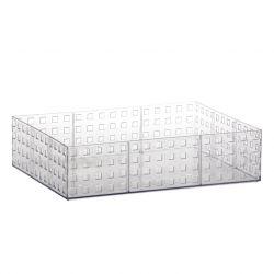 Organizador Quadratto Empalhável Cristal G 32 x 23 x 8 cm