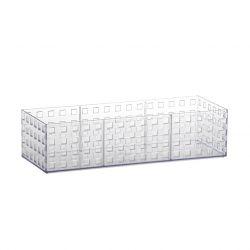 Organizador Quadratto Empalhável Cristal Retangular 32 x 11,5 x 8 cm