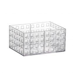 Organizador Quadratto Empalhável Cristal P  16 x 11,5 x 8 cm